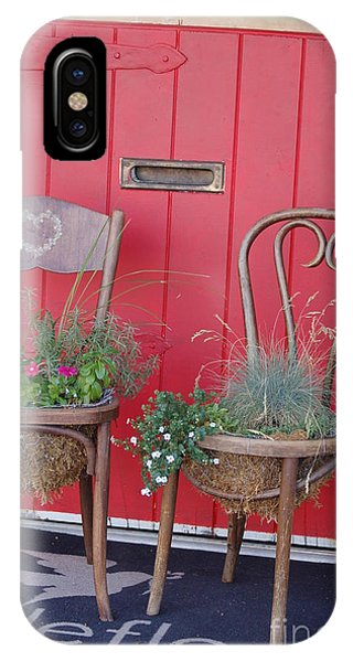 Two Chairs With Plants IPhone Case