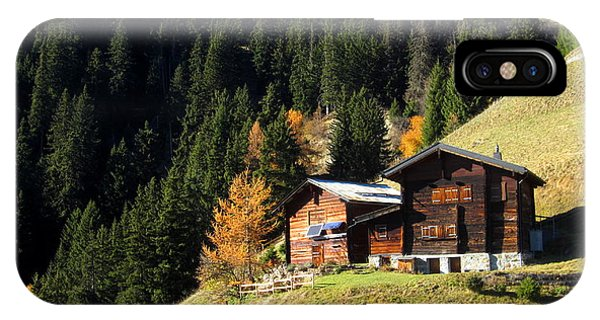Two Chalets On A Mountainside IPhone Case