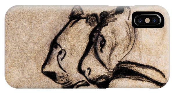 Two Chauvet Cave Lions - Clear Version IPhone Case