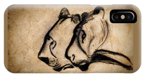 Two Chauvet Cave Lions IPhone Case