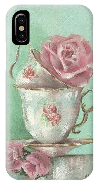 Two Cup Rose Painting IPhone Case