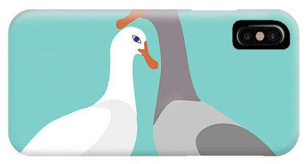 Two Ducks In Love IPhone Case