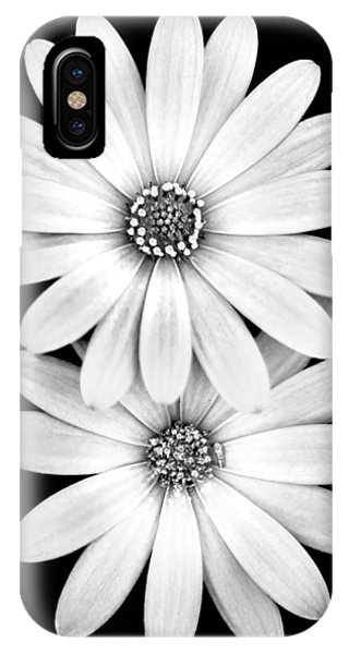 Nature Still Life iPhone Case - Two Flowers by Az Jackson