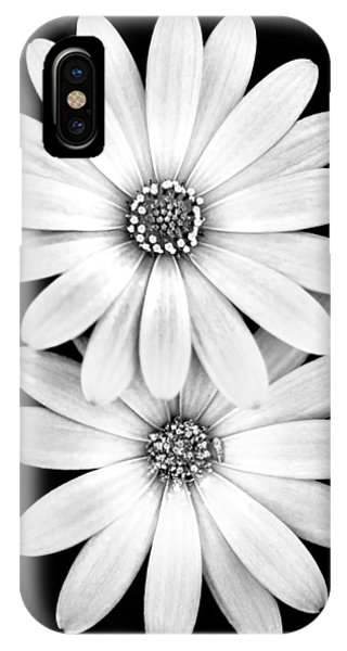 Romantic Background iPhone Case - Two Flowers by Az Jackson