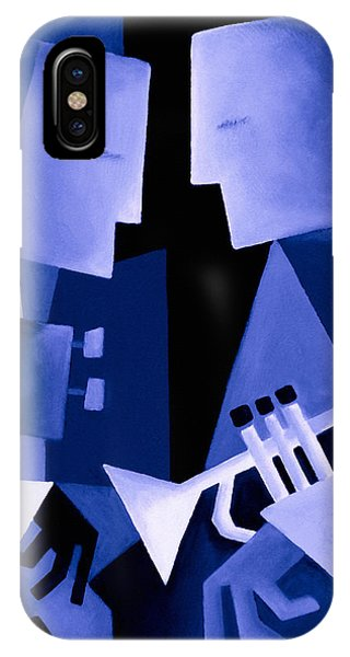 Jazz iPhone Case - Two For The Blues by Thomas Andersen