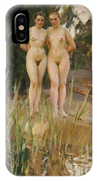 Nudes iPhone X Case - Two Friends  by Anders Leonard Zorn