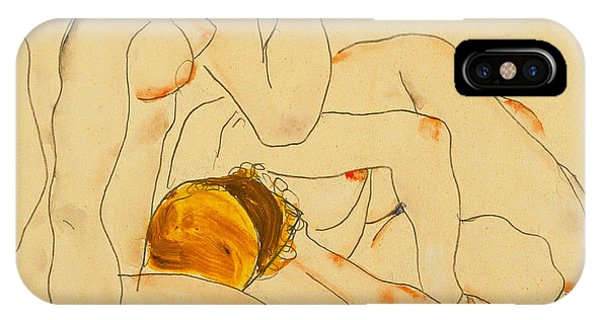 Figures iPhone Case - Two Friends by Egon Schiele