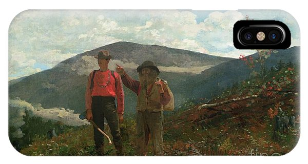 Hill iPhone Case - Two Guides by Winslow Homer