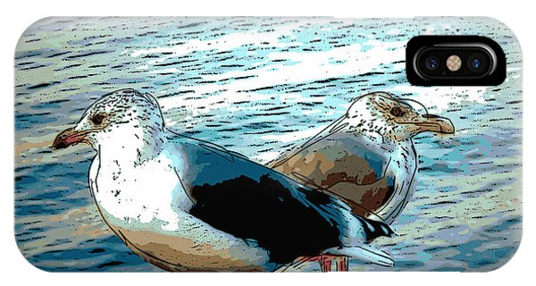 Two Gulls IPhone Case