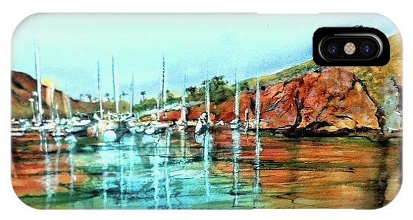 Two Harbors Catalina Morning Impressions IPhone Case
