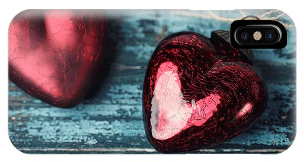 Red Heart iPhone Case - Two Hearts by Nailia Schwarz