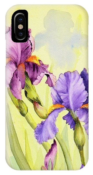 Two Irises  IPhone Case