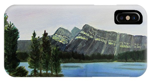IPhone Case featuring the painting Two Jack Lake by Linda Feinberg