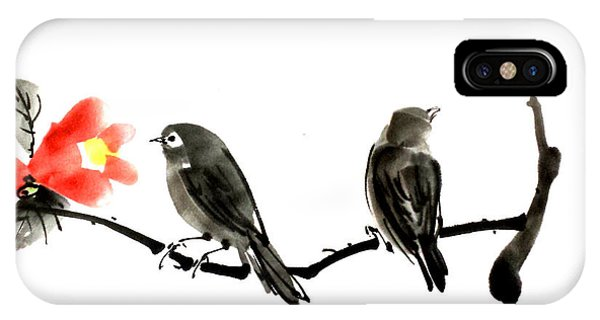 Two Little Birds IPhone Case