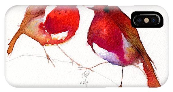 Lovebird iPhone Case - Two Little Birds by Nancy Moniz