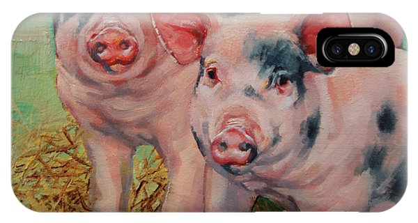Two Little Pigs  IPhone Case