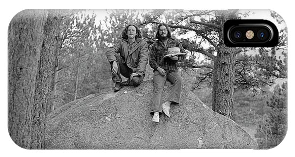 Two Men On A Boulder In The American West, 1972 IPhone Case