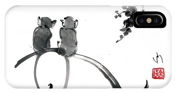 Two Monkeys IPhone Case