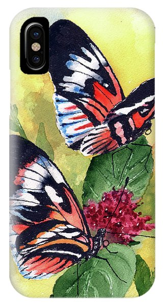 IPhone Case featuring the painting Two Of A Kind by Sam Sidders