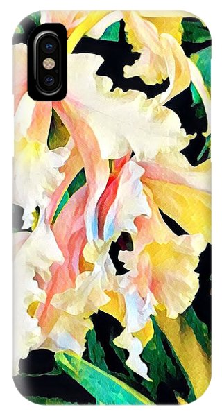 Two Orchids Pink Turquoise IPhone Case