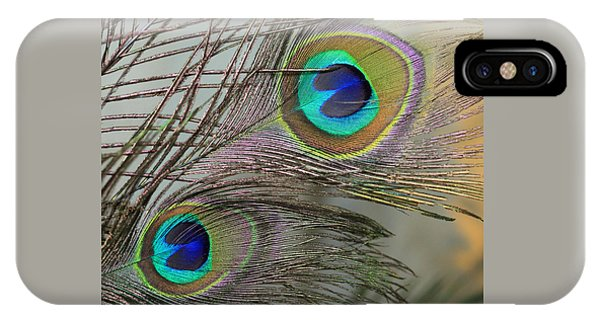 Two Peacock Feathers IPhone Case