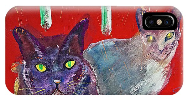 Two Posh Cats IPhone Case