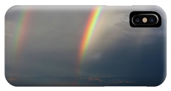 Two Rainbows IPhone Case