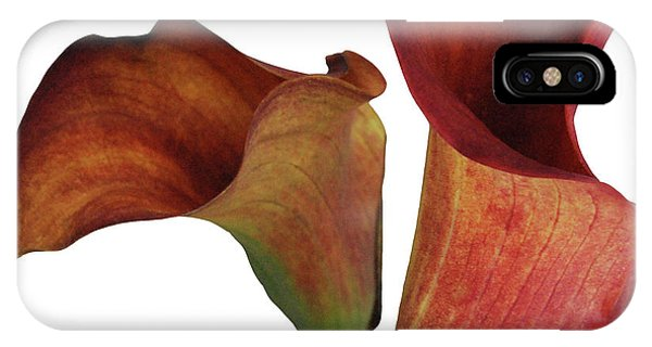 Two Rust Calla Lilies Square IPhone Case