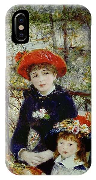 French Impressionism iPhone Case - Two Sisters by Pierre Auguste Renoir
