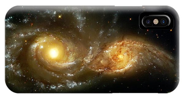 Space iPhone Case - Two Spiral Galaxies by Jennifer Rondinelli Reilly - Fine Art Photography
