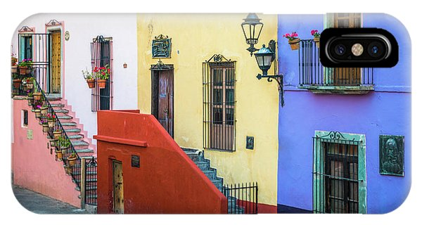 Guanajuato iPhone Case - Two Staircases by Inge Johnsson