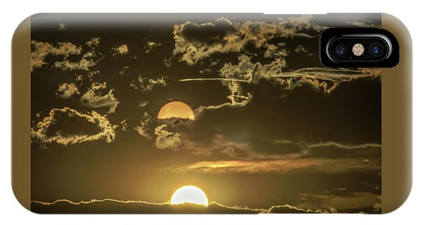Two Suns Setting IPhone Case