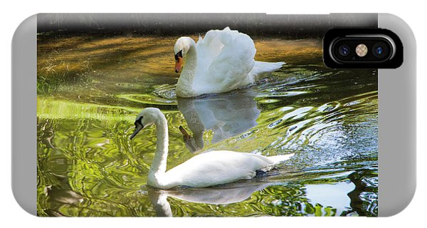 Two Swans On A Lake IPhone Case