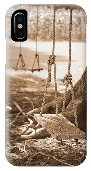 Two Swings - Sepia IPhone Case