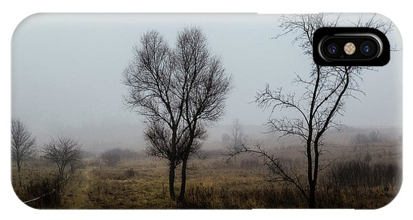 Two Trees In The Fog IPhone Case