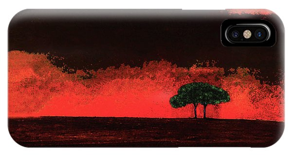 Two Trees In Tuscany IPhone Case