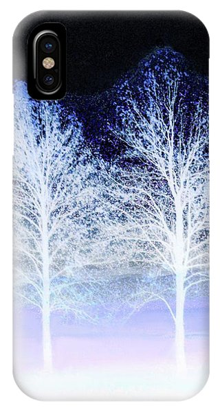 Two Trees In Winter IPhone Case