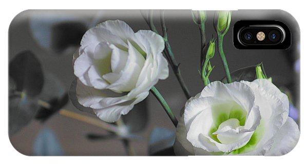 IPhone Case featuring the photograph Two White Roses by Jeremy Hayden