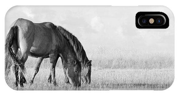 Two Wild Mustangs IPhone Case