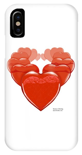 IPhone Case featuring the digital art Two Hearts Become One by Thomas J Herring