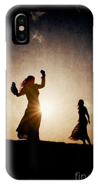 Two Women Dancing At Sunset IPhone Case