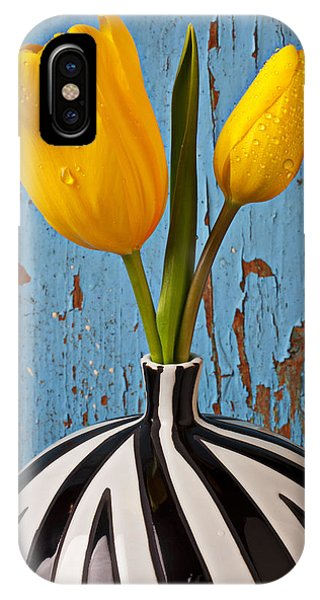 Wet iPhone Case - Two Yellow Tulips by Garry Gay