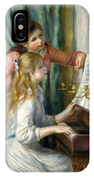 Two Young Girls At The Piano, 1892  IPhone Case