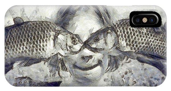 Chain iPhone Case - Twofish - Da by Leonardo Digenio