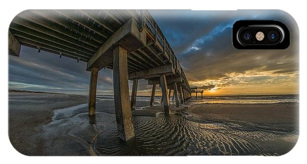 Tybee Island Beach Pier  IPhone Case