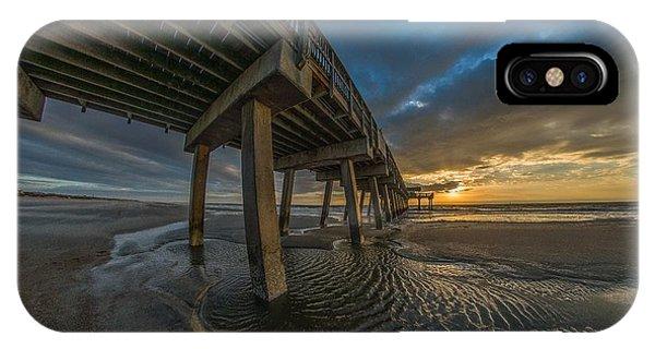 Tybee Island Beach Pier  IPhone Case