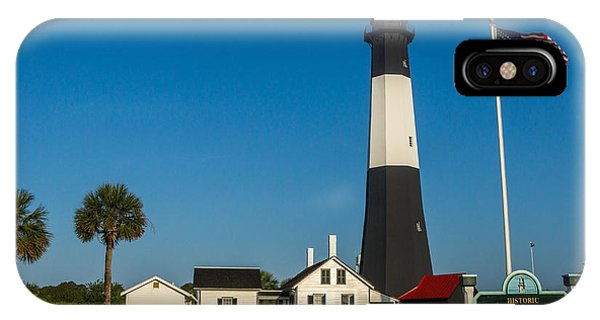 IPhone Case featuring the photograph Tybee Island Lighthouse by Michael Sussman