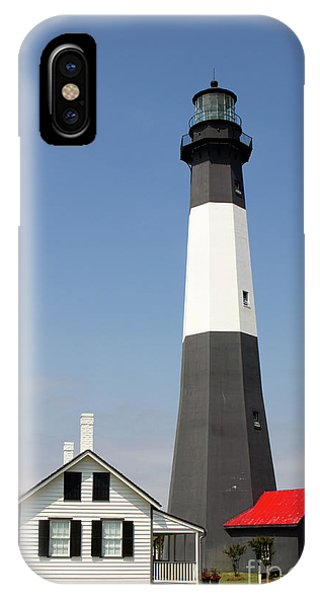 IPhone Case featuring the photograph Tybee Lighthouse Georgia by Steven Frame