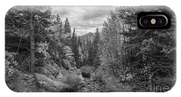 Bear Creek iPhone Case - Tyndall Creek Bw  by Michael Ver Sprill