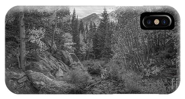 Bear Creek iPhone Case - Tyndall Creek Panorama Bw by Michael Ver Sprill